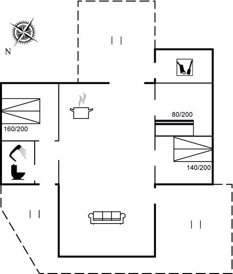 Floor plan of the holiday home